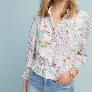 NWOT Small Petite Rosa Anthropologie Maeve Blouse